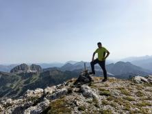 Creta di Pricot: in vetta a quota 2252 metri.