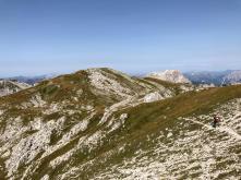 La dorsale che conduce al Monte Cavallo.