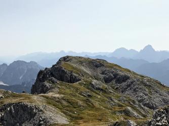 La Creta di Pricot vista dal Monte Cavallo.
