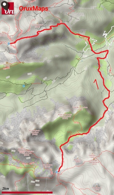Puez-Odle giorno 6_mappa
