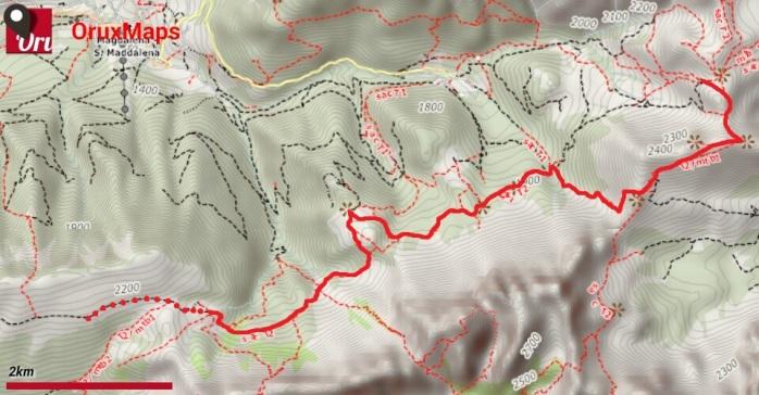 Puez-Odle giorno2_mappa