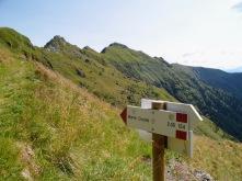 Indicazioni per monte Crostis
