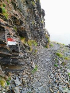 Sul sentiero in discesa verso il rifugio Marinelli