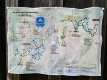 Mappa del museo all'aperto del Pal Piccolo