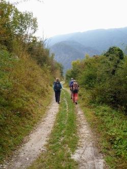 Sulla strada verso trnovo ob Soci