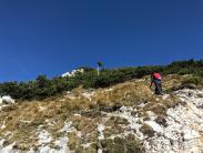 Tratto iniziale della cresta della Mala Mojstrovka.