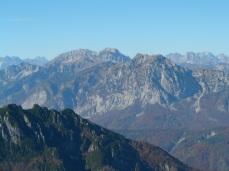 Panorama verso monti Tinisa, Bivera e Clapsavon