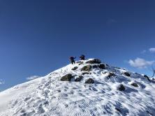 Sulla cresta del Monte Festons.