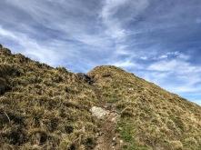 In salita sulla cresta del Pezzacul.