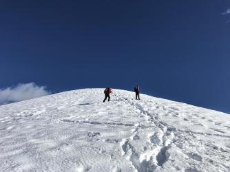 verso la cima del Morgenlleit.