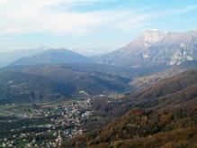 Panorama verso il monte Raut