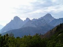 Panorama verso Creta Grauzaria, monte Flop e monte Sernio