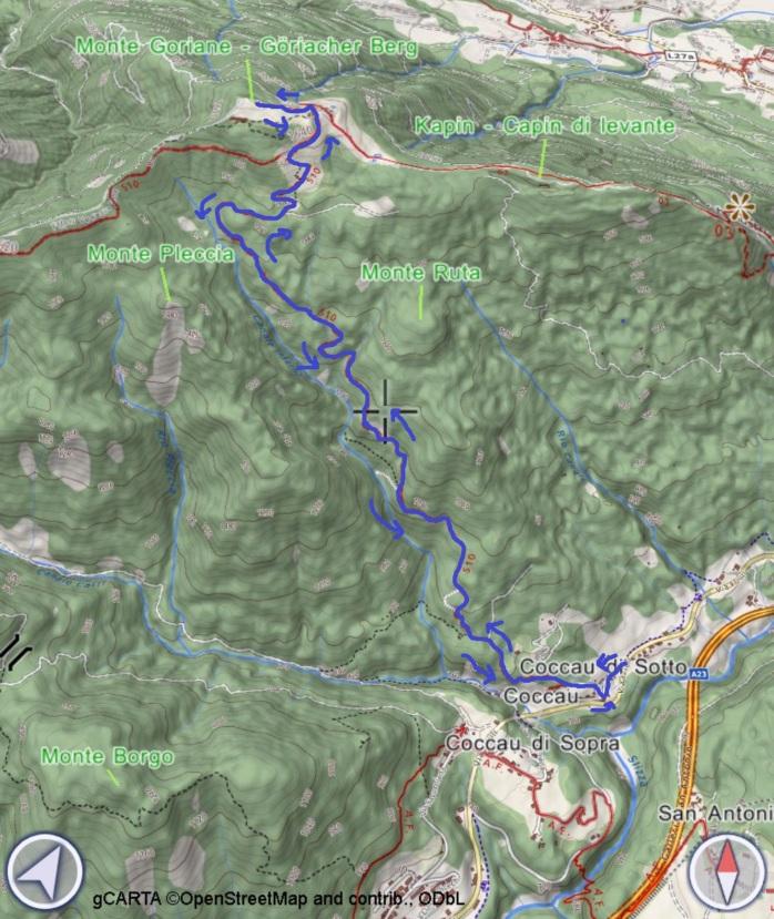 mappa GORIANE