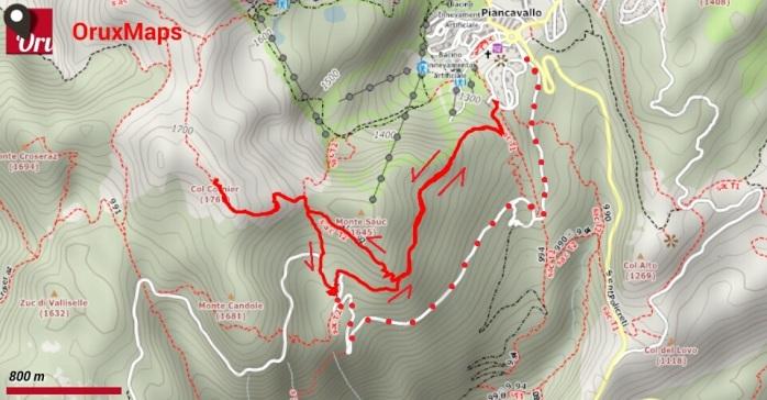 Col Cornier_mappa