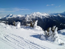 Panorama verso monte Zermula