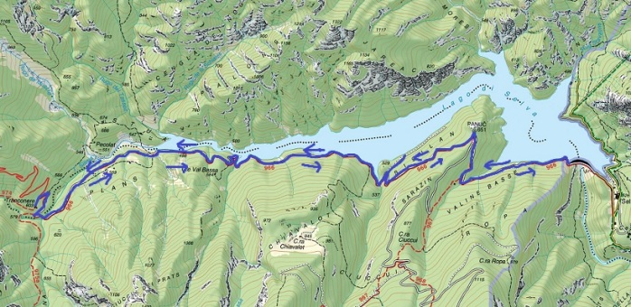 mappa lago selva
