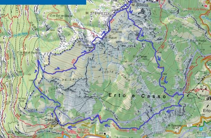 mappa borgà