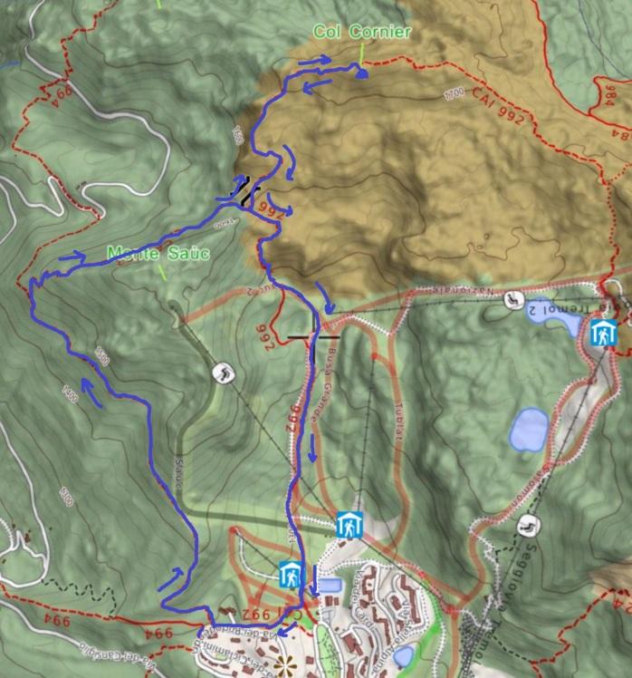 mappa COL CORNIER