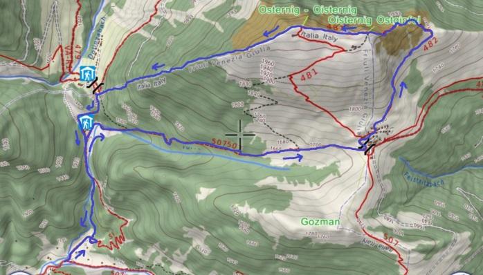 mappa OSTERNIG