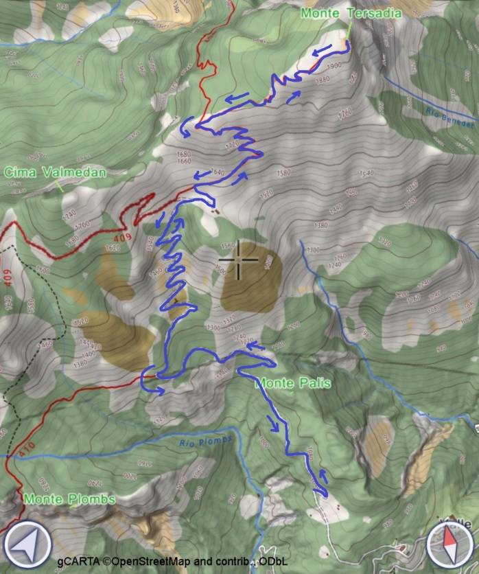 mappa TERSADIA