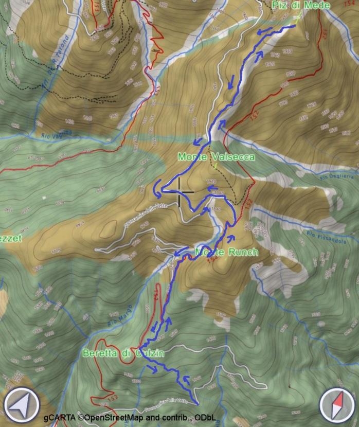 mappa PIZ DI MEDE
