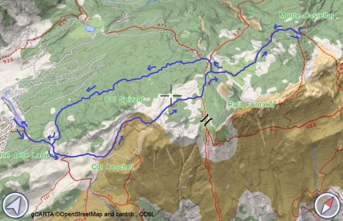 mappa CIASTELAT