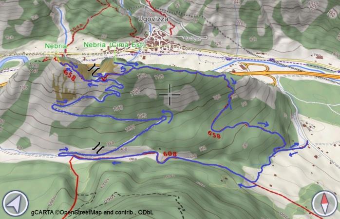 mappa NEBRIA