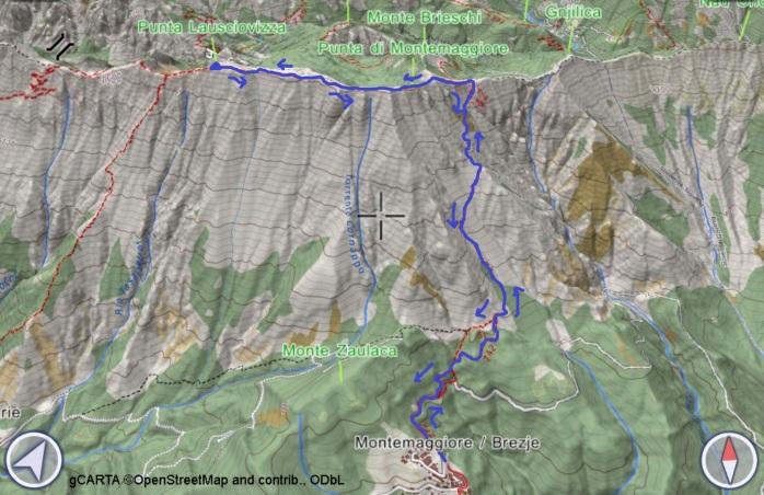 mappa LAUSCIOVIZZA