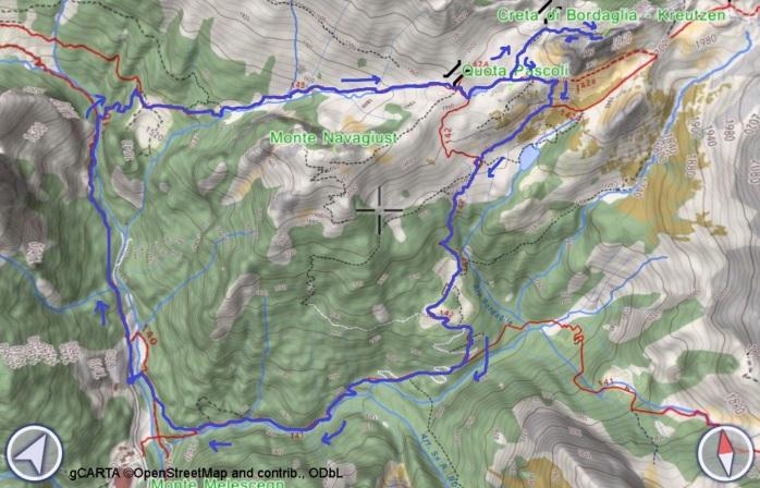 mappa BORDAGLIA