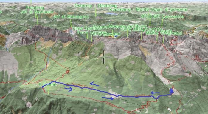 mappa cregnedul