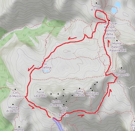 Cartina 3 Cime Di Lavaredo.Anello Delle Tre Cime Di Lavaredo Supermontifvg