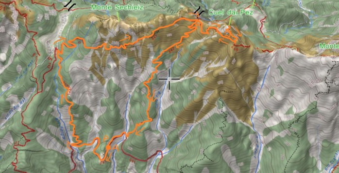 mappa CUEL DAI PEZ