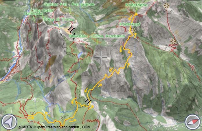 mappa KODERHOHE