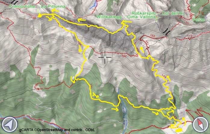 mappa PITTURINA